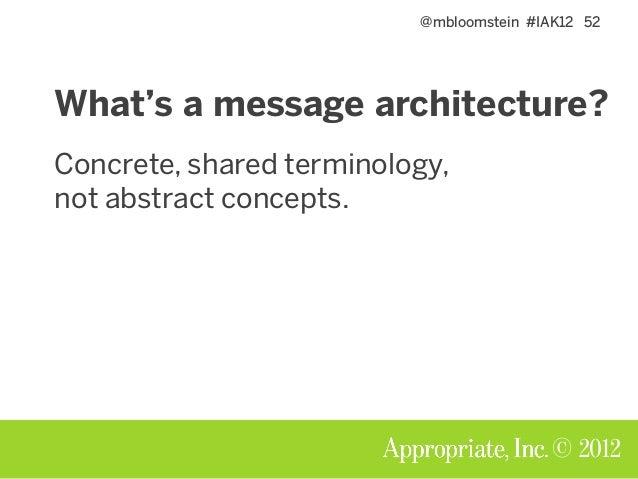 @mbloomstein #IAK12 53 © 2012 Make us look innovative, but not risky.