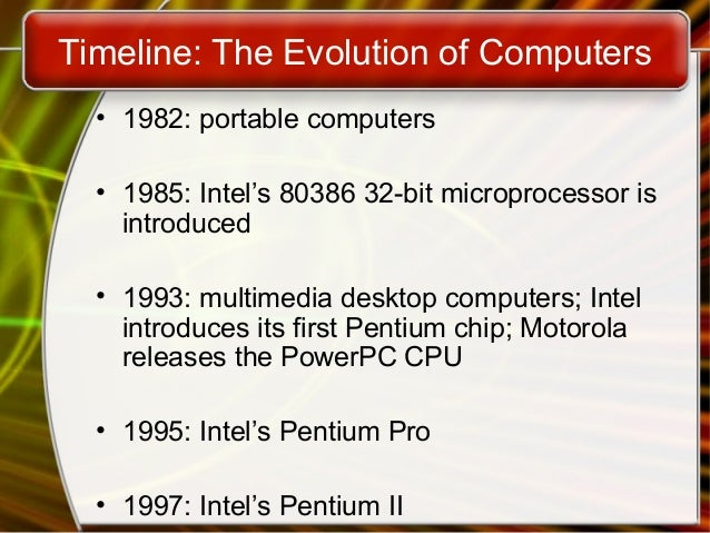 an introduction to the evolution of computers Computer science robert e kahn  introduction the internet has revolutionized the computer and  technological evolution that began with early research on .