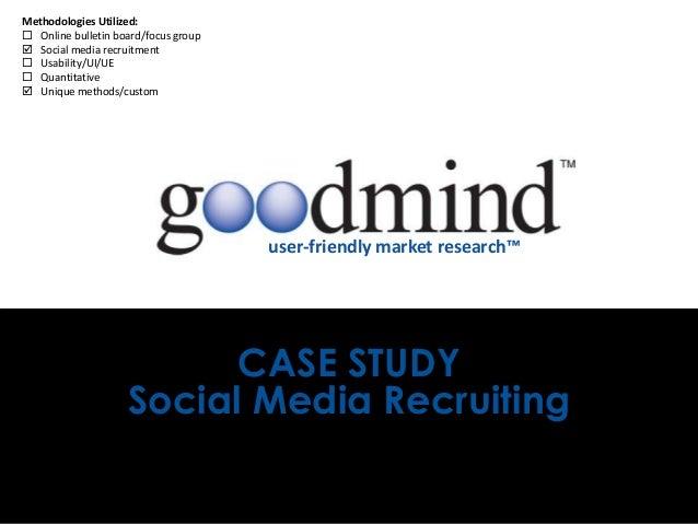 Methodologies Utilized: Online bulletin board/focus group Social media recruitment Usability/UI/UE Quantitative Uniqu...