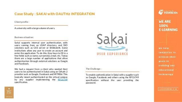 Sakai Oauth2 Integration - Entornos de Formación Slide 2