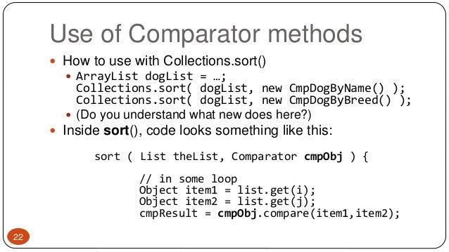 Comparable/ Comparator