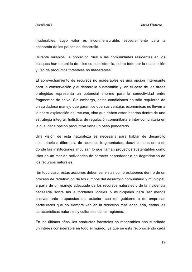 Introducción                                                    Juana Figueroamaderables, cuyo valor es inconmensurable, e...
