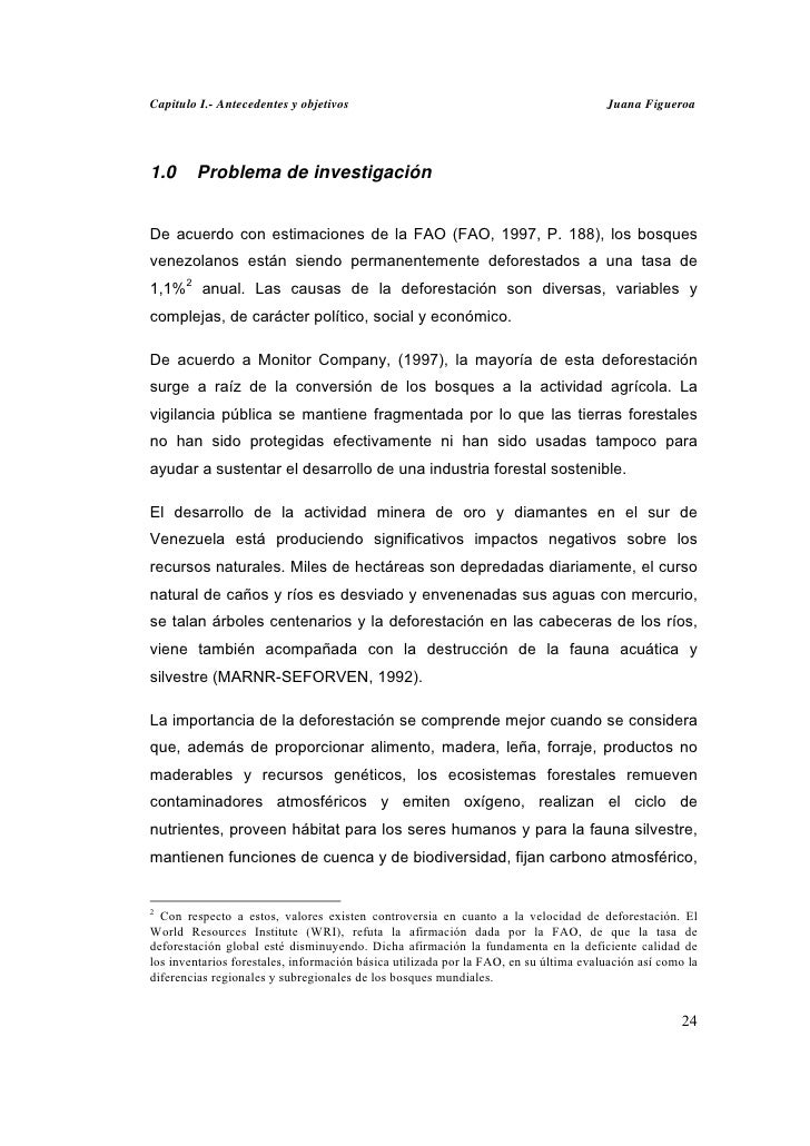 Capitulo I.- Antecedentes y objetivos                                                 Juana Figueroa1.0     Problema de in...