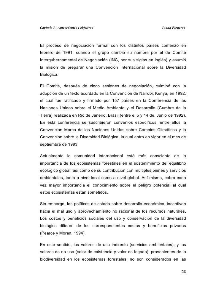 Capitulo I.- Antecedentes y objetivos                             Juana FigueroaEl proceso de negociación formal con los d...