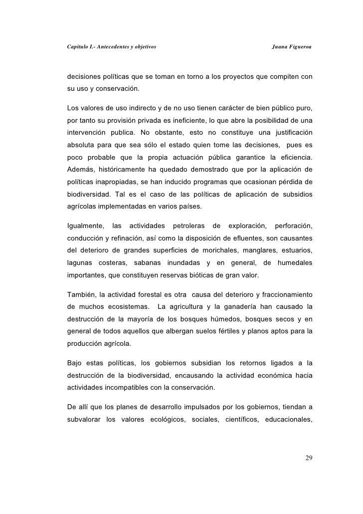 Capitulo I.- Antecedentes y objetivos                                        Juana Figueroadecisiones políticas que se tom...