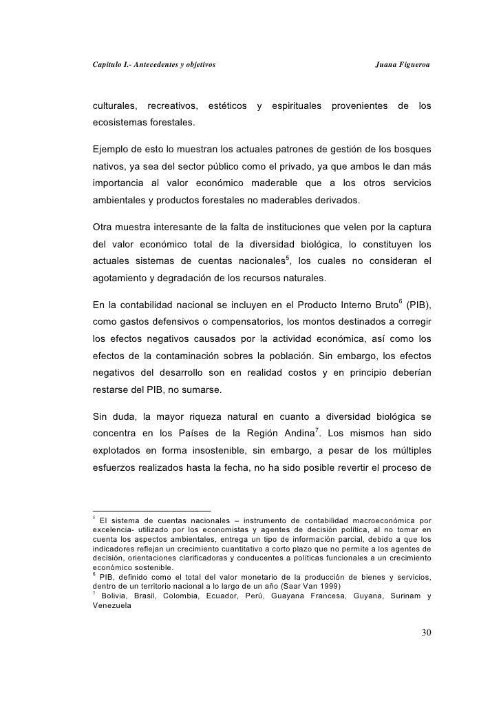 Capitulo I.- Antecedentes y objetivos                                         Juana Figueroaculturales,     recreativos,  ...