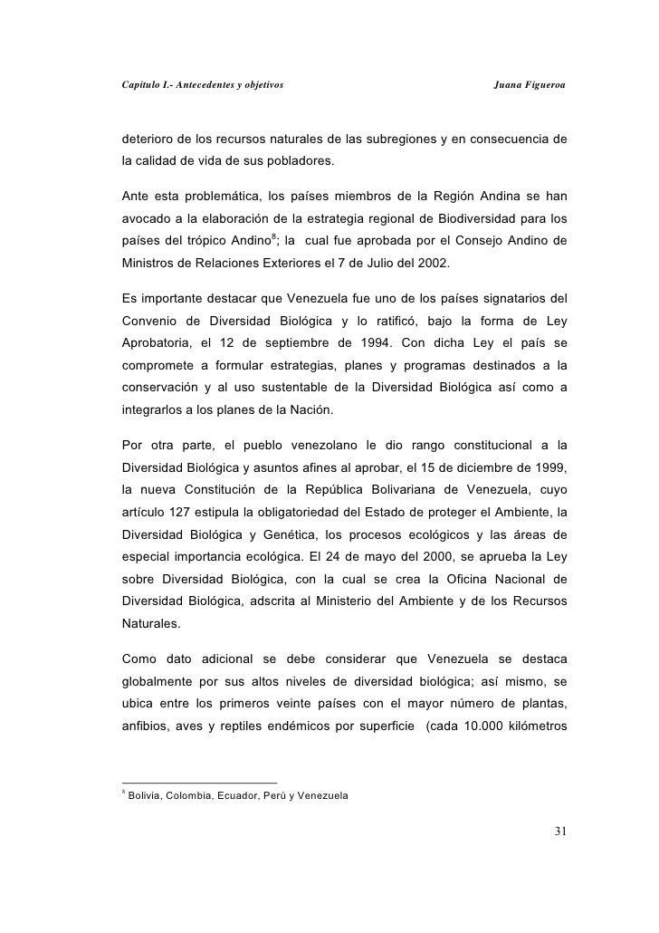 Capitulo I.- Antecedentes y objetivos                            Juana Figueroadeterioro de los recursos naturales de las ...