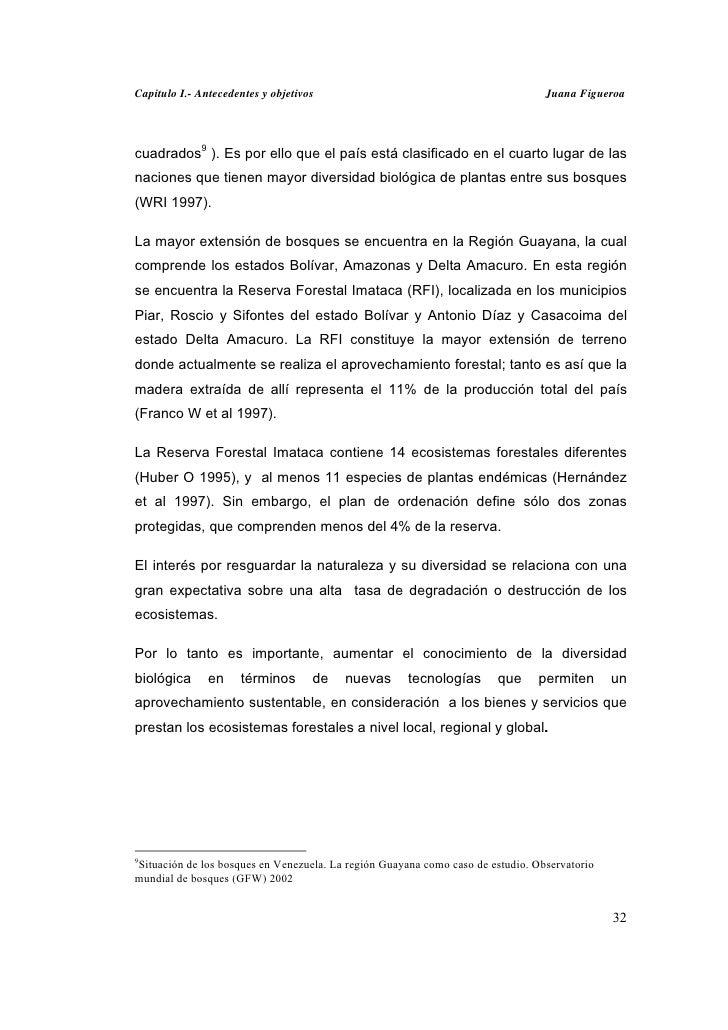 Capitulo I.- Antecedentes y objetivos                                            Juana Figueroacuadrados9 ). Es por ello q...