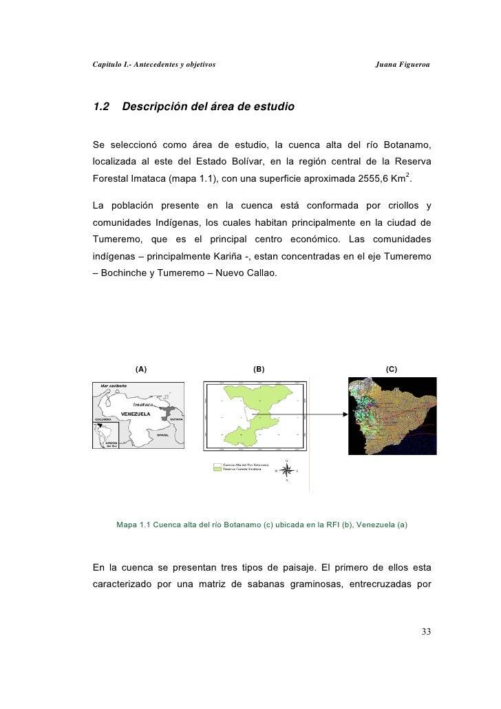 Capitulo I.- Antecedentes y objetivos                                       Juana Figueroa1.2     Descripción del área de ...