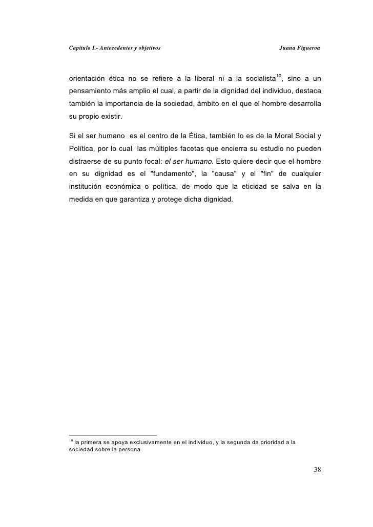 Capitulo I.- Antecedentes y objetivos                                         Juana Figueroaorientación ética no se refier...