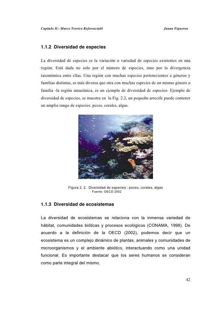 Capitulo II.- Marco Teorico Referenciañl                                       Juana Figueroa1.1.2 Diversidad de especiesL...