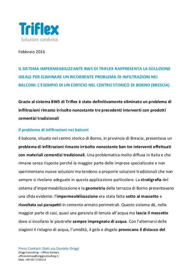 Impermeabilizzazione di balconi con triflex bws - Impermeabilizzazione balconi ...