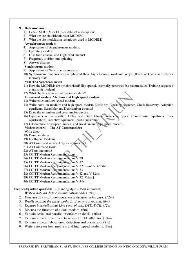 Cs2204 analog & digital communication question bank