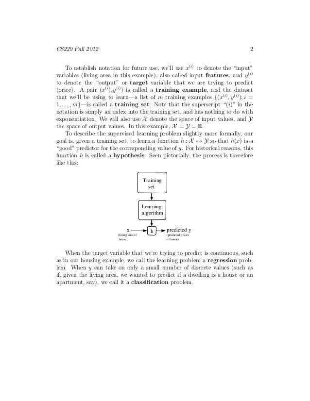 Coursera machine learning andrew ng lecture notes
