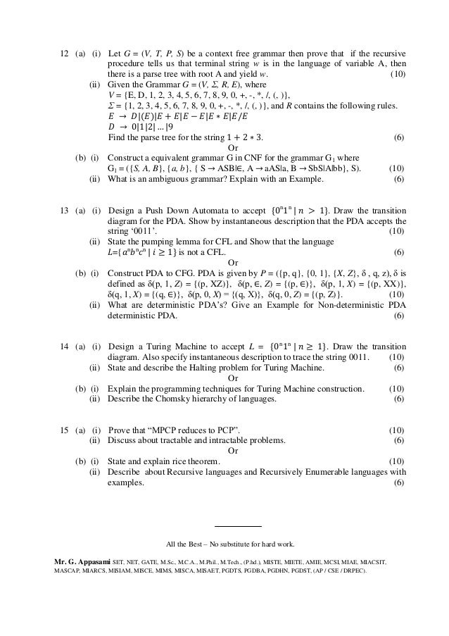 Theory of computation research papers cs2303
