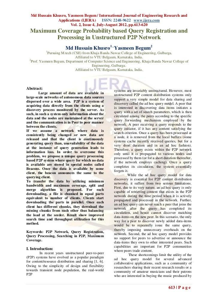 Md Hussain Khusro, Yasmeen Begum / International Journal of Engineering Research and               Applications (IJERA) IS...