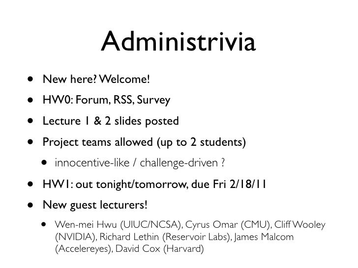 [Harvard CS264] 03 - Introduction to GPU Computing, CUDA Basics Slide 2