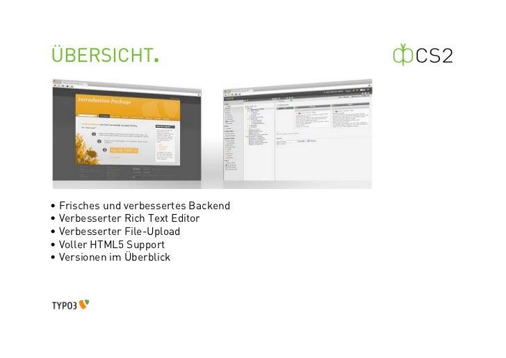 TYPO3 Version 4.4 Neuerungen Slide 2