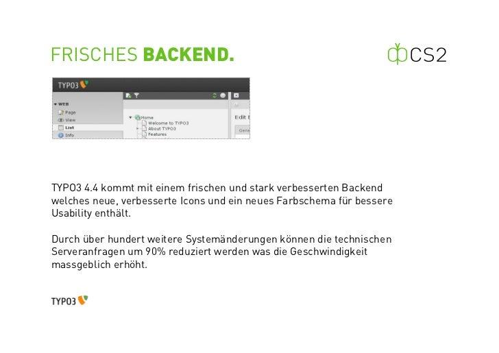 TYPO3 Version 4.4 Neuerungen Slide 3