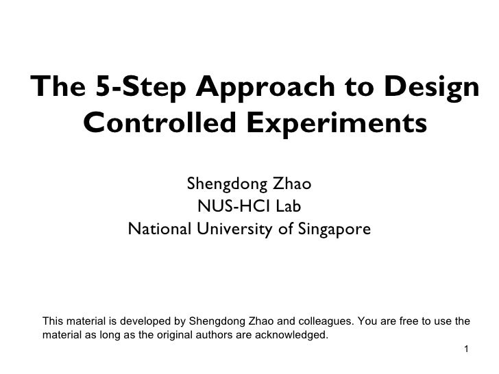 The 5-step Approach to Controlled Experiment Design for ...