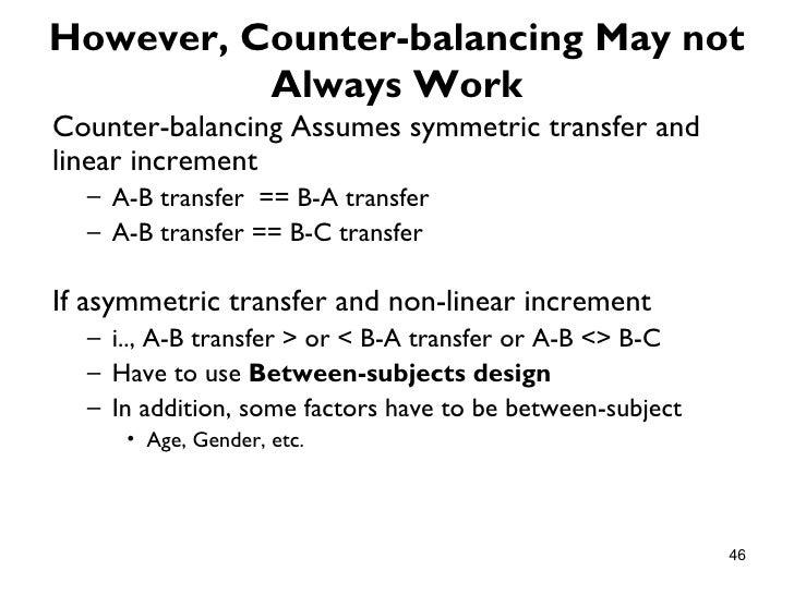 However, Counter-balancing May not          Always WorkCounter-balancing Assumes symmetric transfer andlinear increment  –...