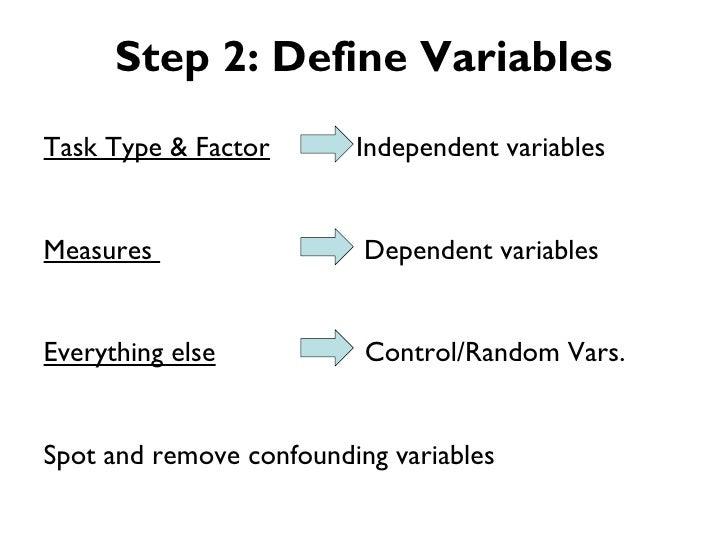 Step 2: Define VariablesTask Type & Factor       Independent variablesMeasures                  Dependent variablesEveryth...