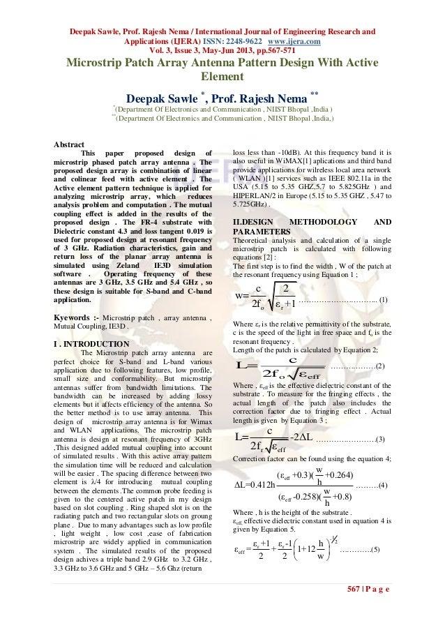 Deepak Sawle, Prof. Rajesh Nema / International Journal of Engineering Research andApplications (IJERA) ISSN: 2248-9622 ww...