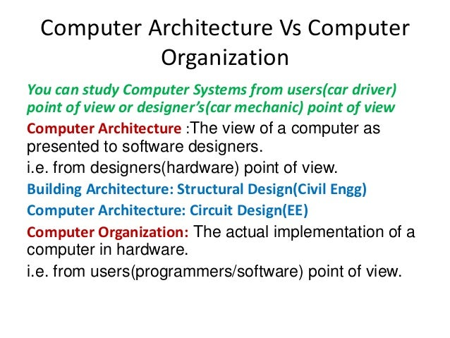 Cs4109 Computer System Architecture