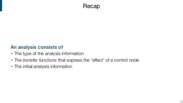 Compiler Construction | Lecture 11 | Monotone Frameworks