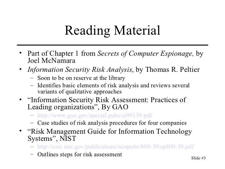 Cs461 06.risk analysis (1)
