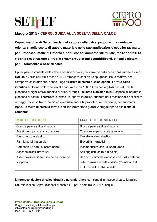 Press Contact: Dott.ssa Daniela Origgi Origgi Consulting – Ufficio Stampa ufficiostampa@origgiconsulting.it Mob. +39 347 1...