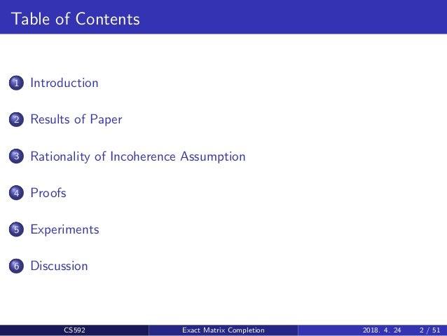 Exact Matrix Completion via Convex Optimization Slide (PPT) Slide 2