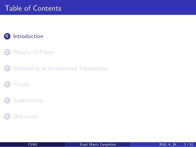 Exact Matrix Completion via Convex Optimization Slide (PPT) Slide 3