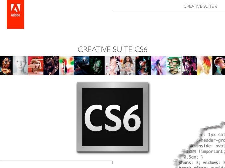 CREATIVE SUITE 6CREATIVE SUITE CS6        1