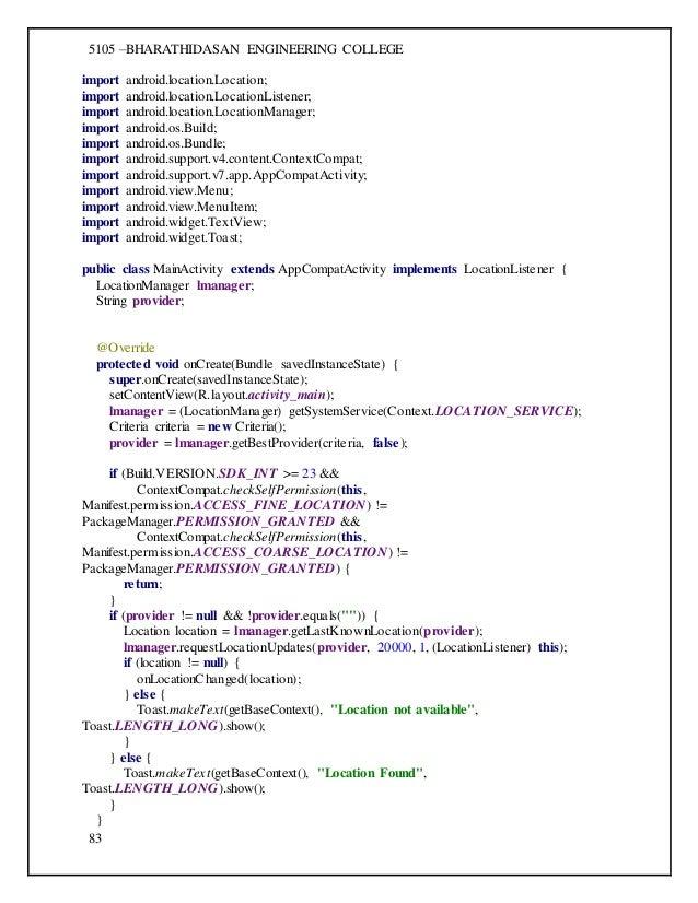 cs6611 mobile application development laboratory