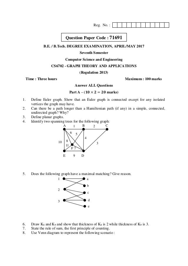 Cs6702 graph theory and applications anna university question paper a ccuart Images