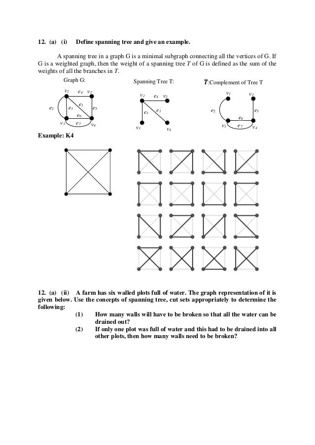 Cs6702 graph theory and applications anna university question paper a 11 ccuart Images