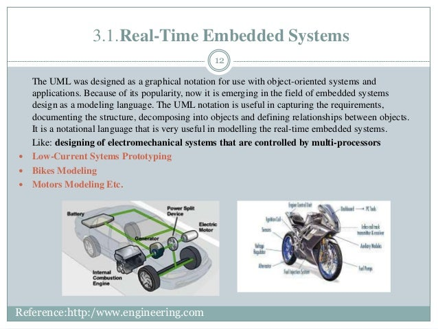 3.1.Real-Time Embedded Systems 12 The UML was designed as a graphical notation for use with object-oriented systems and ap...