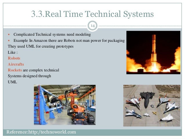 3.3.Real Time Technical Systems 14  Complicated Technical systems need modeling  Example In Amazon there are Robots not ...