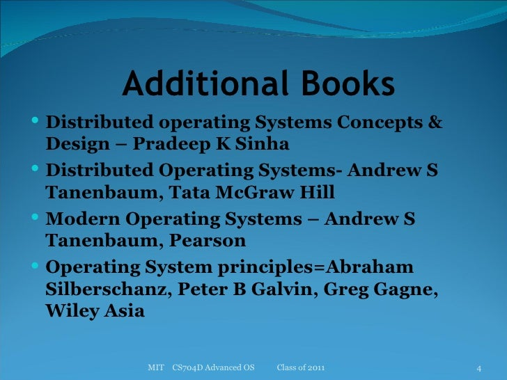 Advanced Operating System Introduction