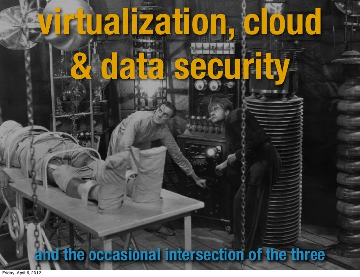 virtualization, cloud                      & data security                 and the occasional intersection of the threeFri...