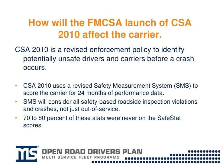 CSA 2010 _carrier_considerationsCSA 2010: Carrier Considerations Slide 2