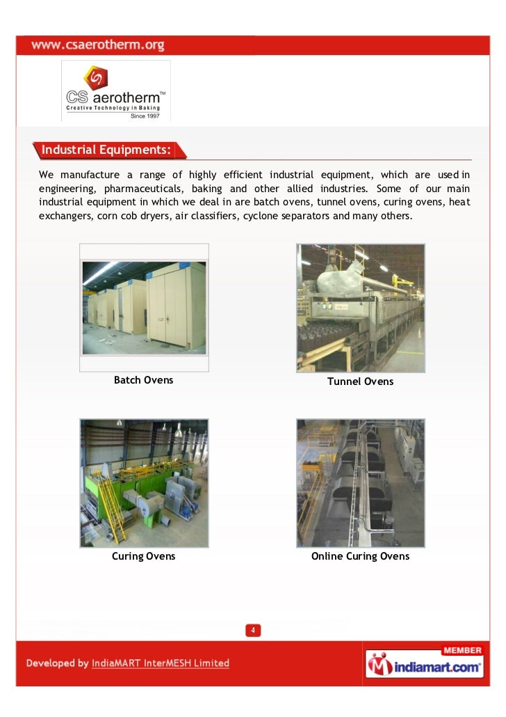 C  S  Aerotherm Private Limited, Bangalore, Bakery Machinery