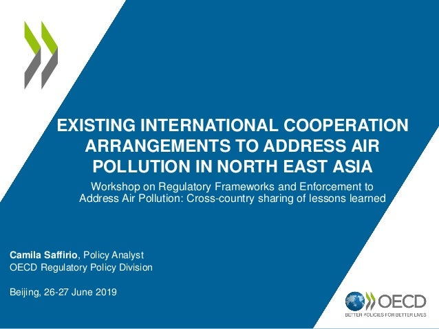 EXISTING INTERNATIONAL COOPERATION ARRANGEMENTS TO ADDRESS AIR POLLUTION IN NORTH EAST ASIA Camila Saffirio, Policy Analys...