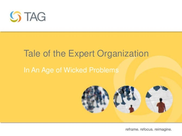 Tale of the Expert OrganizationIn An Age of Wicked Problems                                  1