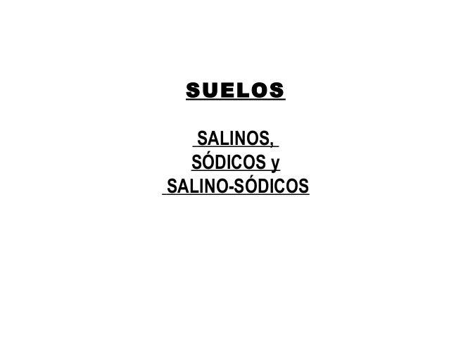 SUELOS SALINOS, SÓDICOS y SALINO-SÓDICOS