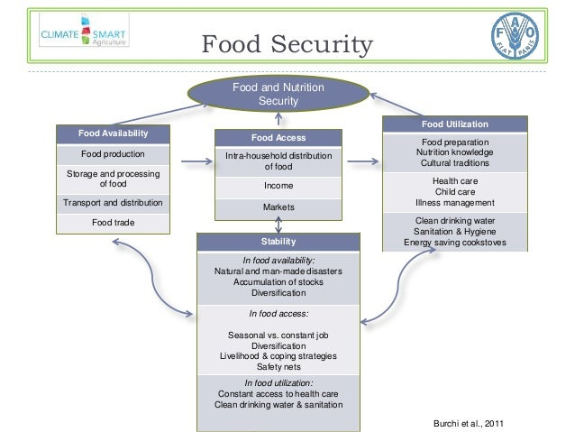 Food and Nutrition  Security  Food Availability  Food production  Storage and processing  of food  Transport and distribut...