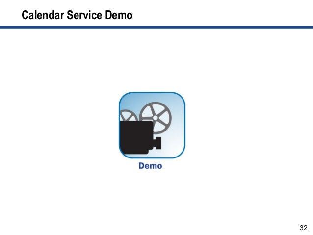 32 Calendar Service Demo