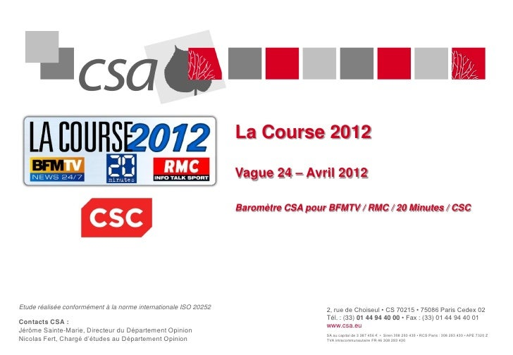 La Course 2012                                                                  Vague 24 – Avril 2012                     ...