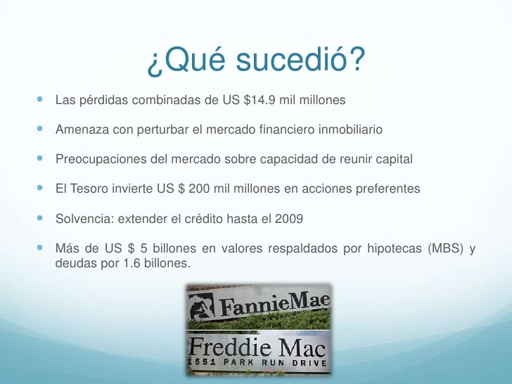 fannie mae and freddie mac crisis financiera